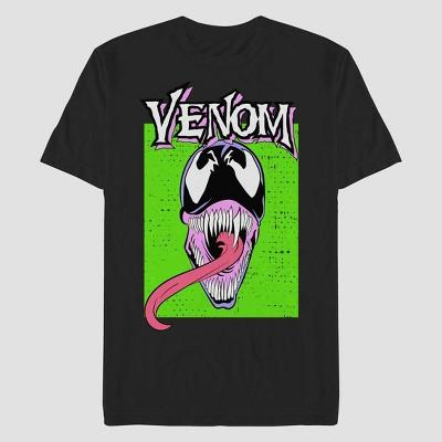 Men's Marvel Venom Neon Short Sleeve Graphic T-Shirt - Black