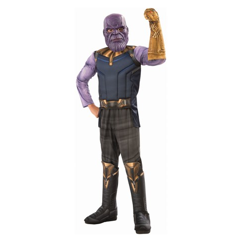 18ff37c8 Boys' Marvel Thanos Avengers Deluxe Muscle Halloween Costume : Target