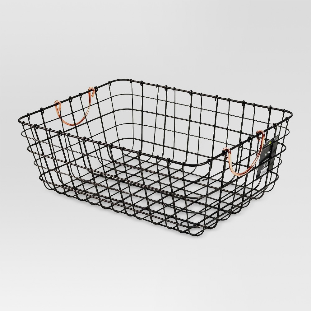 Small Wire Decorative Basket with Copper Handle - Threshold