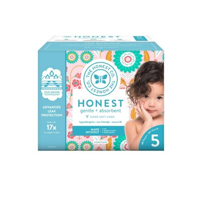 The Honest Company Flower Child Club Box Disposable Diapers - Size 5 (50ct)