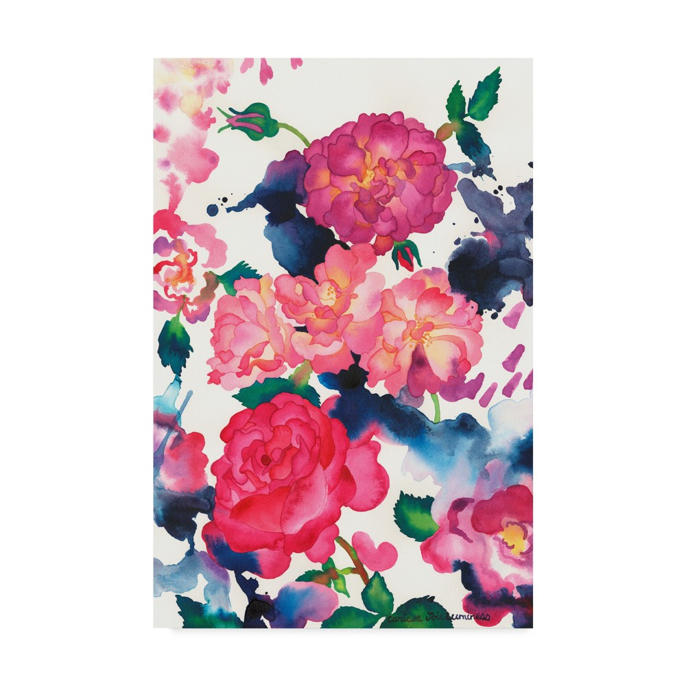 """Image of """"Carissa Luminess A Rose Is Just A Rose Unframed Wall 16""""""""x24"""""""" - Trademark Fine Art, Multi-Colored"""""""