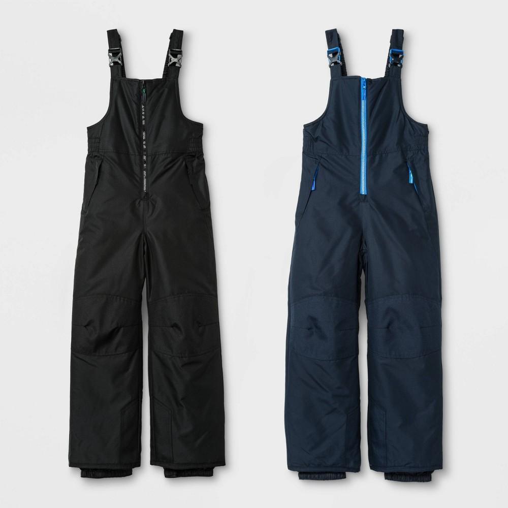 Image of Boys' 2pk Snow Bib - C9 Champion Navy M, Boy's, Size: Medium, Black/Blue