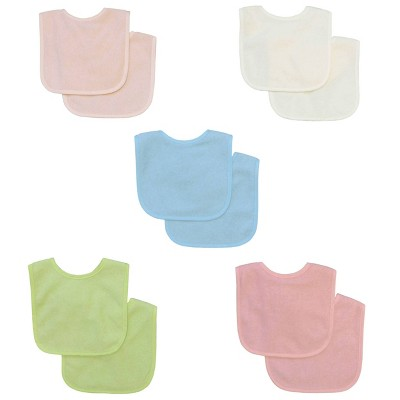 Neat Solutions Water-Resistant Lined Infant Bib Set Girl - 10pk