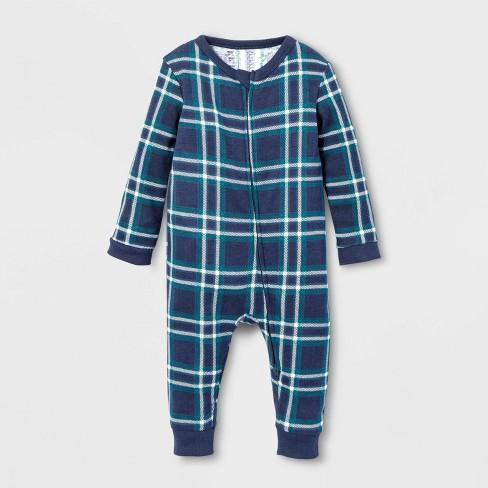 Baby Family Pajama Blue Plaid Union Suit - Blue - image 1 of 1