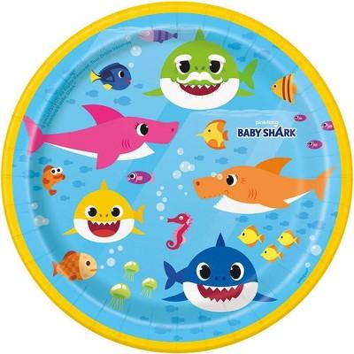 "Baby Shark 7"" 8ct Paper Plates"