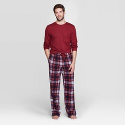 Men's Microfleece Pajama Set - Goodfellow & Co™ Berry Blush