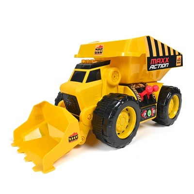 Maxx Action 2-N-1 Dig Rig Dump Truck and Front End Loader Toy Vehicle