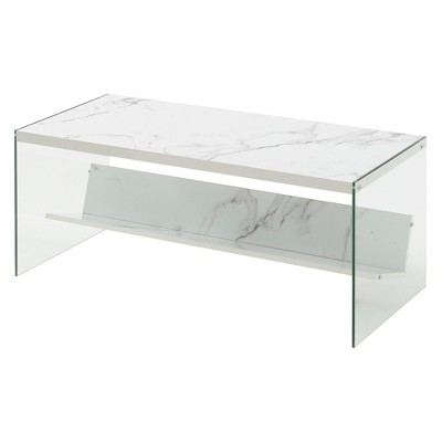 Soho Coffee Table Faux Marble White - Johar Furniture