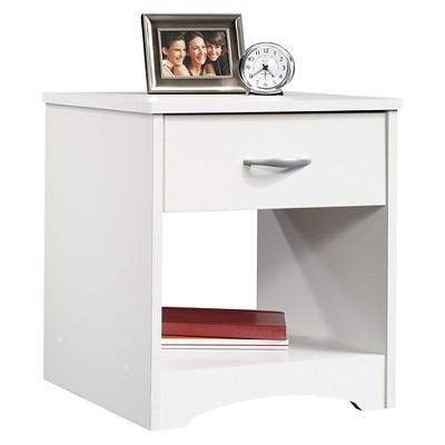 Beginnings Nightstand with Drawer & Open Shelf - Soft White - Sauder