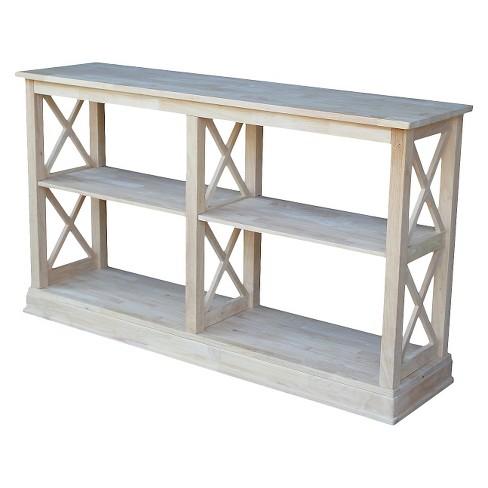 Hampton Sofa Server Table with Shelves - International Concepts - image 1 of 4