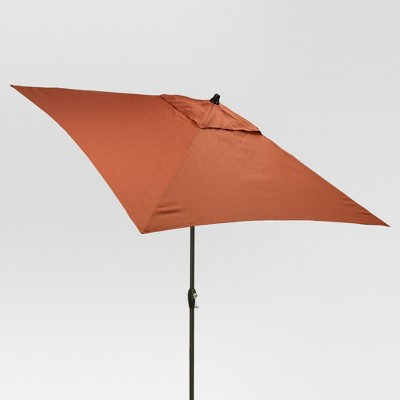 6.5' Square Umbrella - Orange - Black Pole - Threshold™