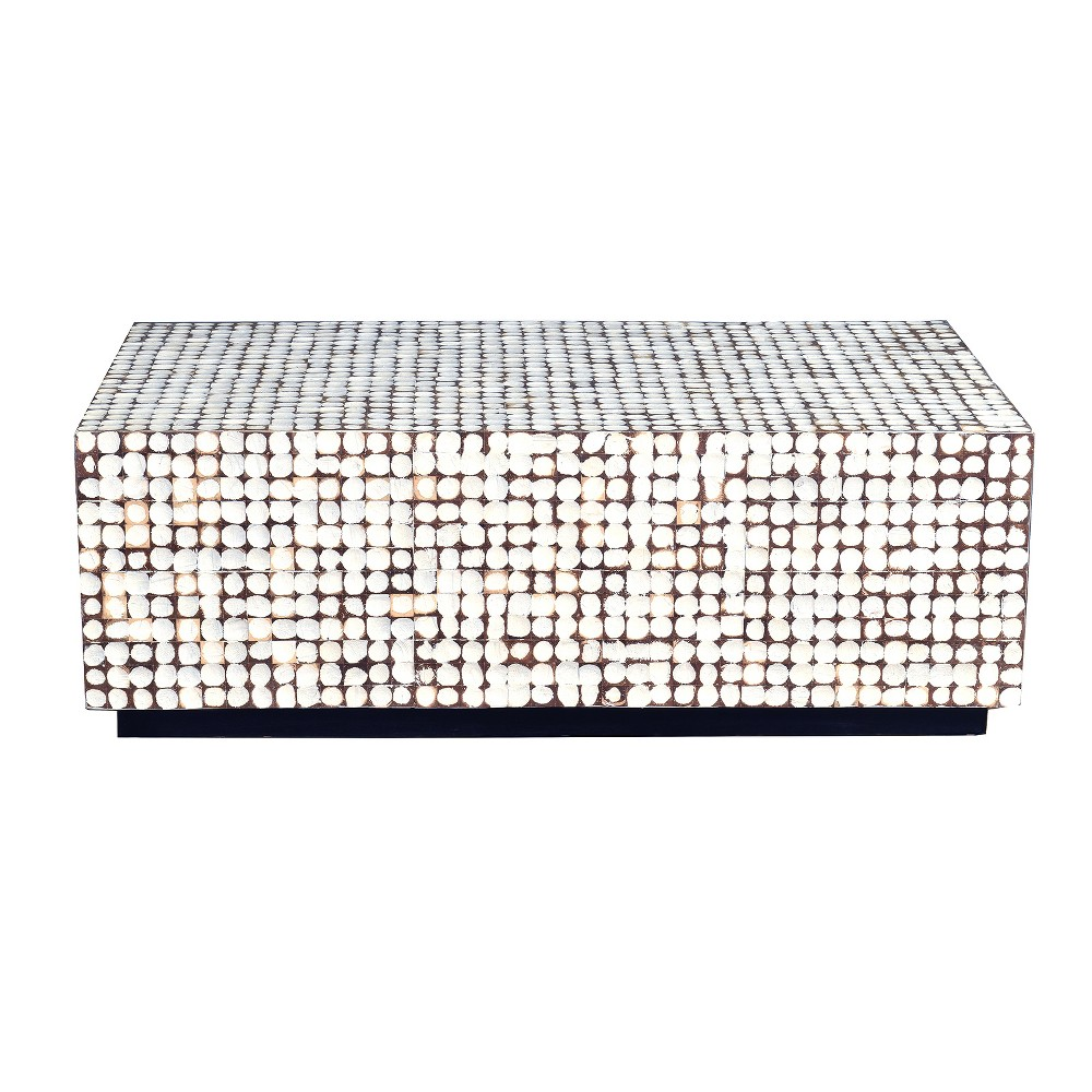 Elia Coconut Shell Coffee Table White - East At Main