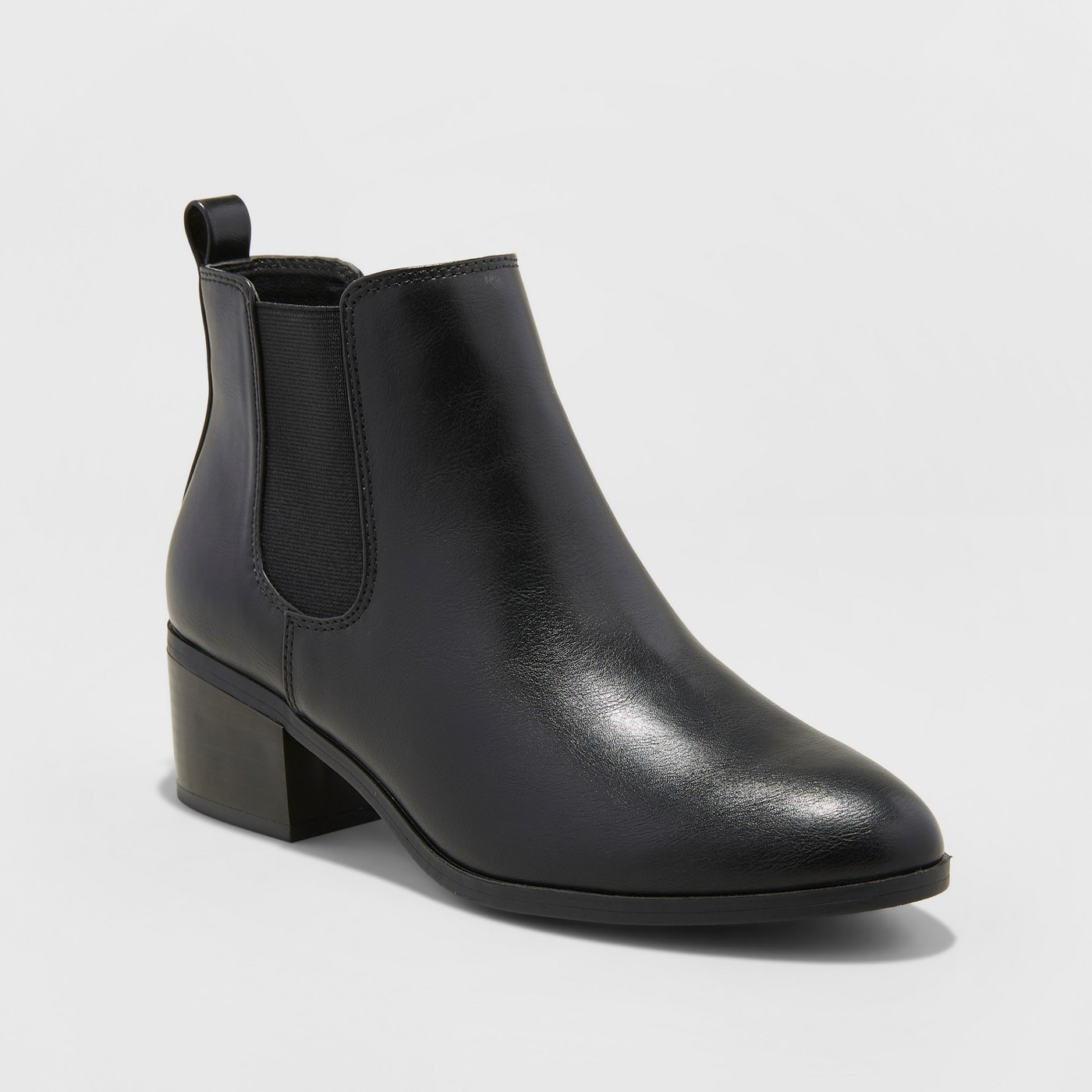 Women's Ellie Chelsea Boots - A New Day™ Black - image 1 of 3