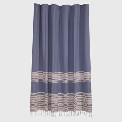 Woven Stripe Shower Curtain Blue Monday - Threshold™
