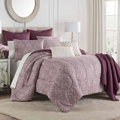 Savino Comforter Set Burgundy - Martex
