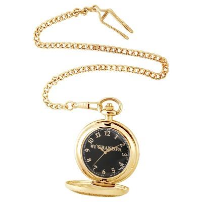 Men's eWatchfactory Family GRANDPA Pocket Watch - Gold