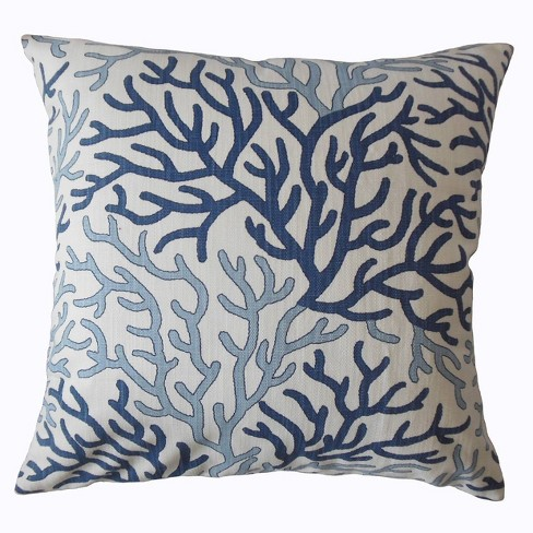 Coral Reef Pattern Square Throw Pillow White Blue Pillow Collection Target