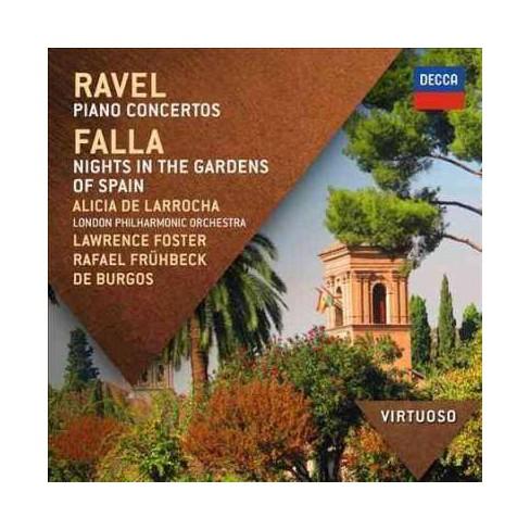 Falla - Virtuoso: Ravel/Falla- Piano Concertos/Nights In The Gardens Of Spain (CD) - image 1 of 1