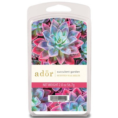 2oz 6pk Wax Warmer Melts Succulent Garden - Ador