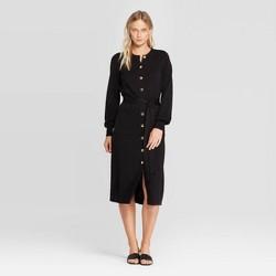 Women's Long Sleeve Crewneck Midi Sweater Dress - Who What Wear™