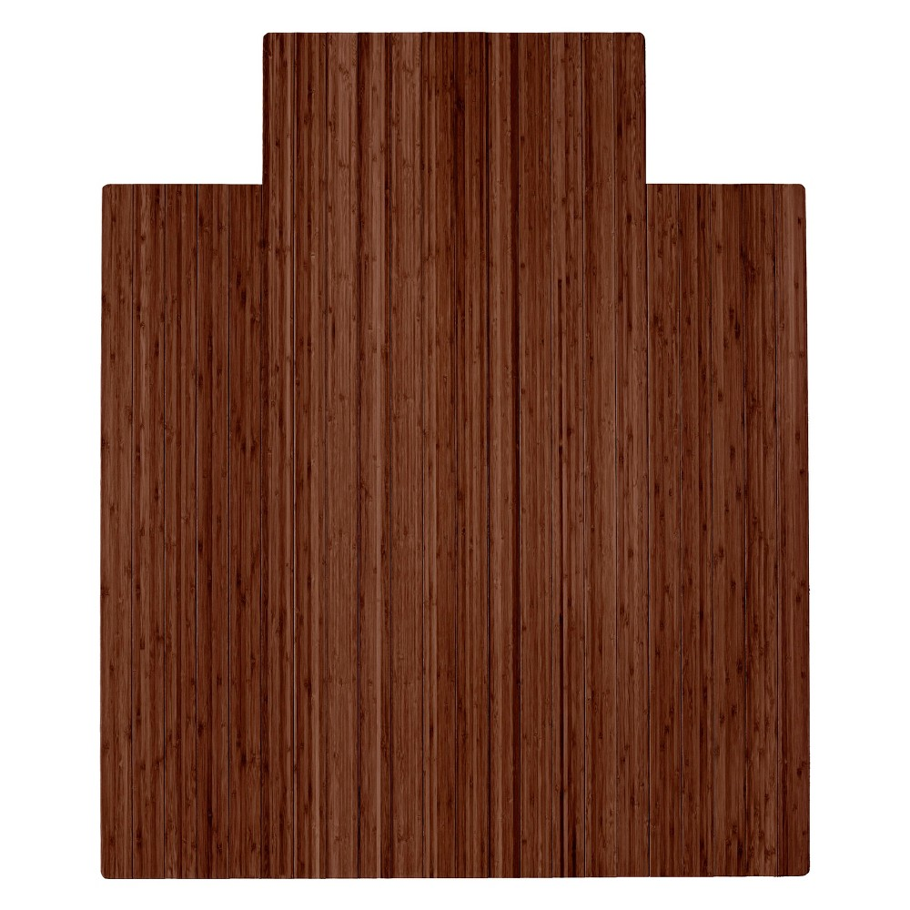 """Image of """"3'7""""""""X4'3"""""""" Bamboo Roll-Up Chairmat with Lip Dark Brown - Anji Mountain"""""""