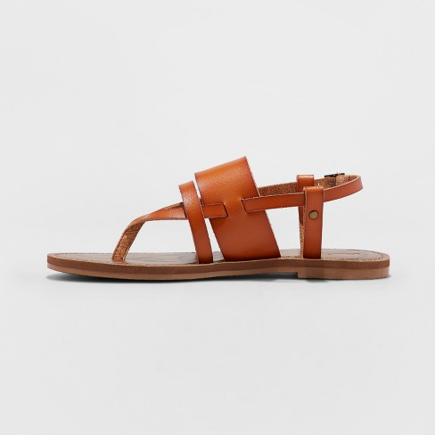 96025154b Women s Sonora Toe Thong Sandals - Universal Thread™ Cognac   Target