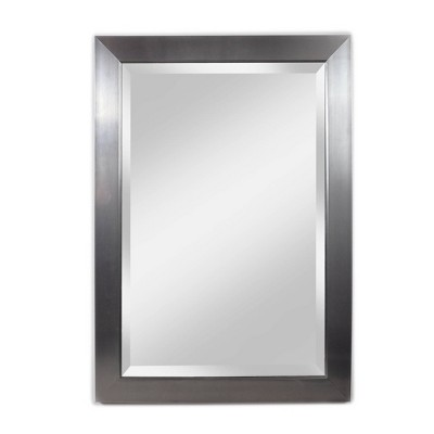 "29"" X 41"" Contempo Beveled Glass Wall Mirror Silver - Alpine Art & Mirror"