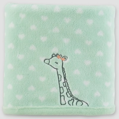 Baby Girls' Fluffy Giraffe Blanket - Just One You® made by carter's Mint