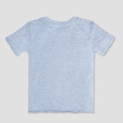 237632b54 Burt's Bees Baby Toddler Boys' Organic Cotton Solid High V Short Sleeve T- Shirt - Heather Gray