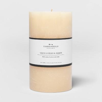 Pillar Vanilla Bean and Amber Candle - Threshold™