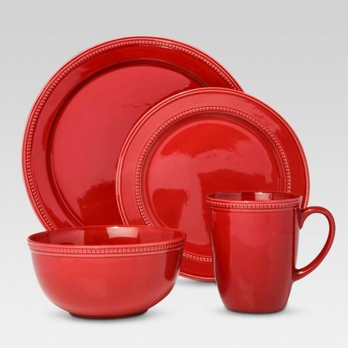 Camden 16pc Dinnerware Set Red - Threshold™ - image 1 of 1