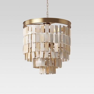 Large Faux Shell Chandelier Brown - Opalhouse™