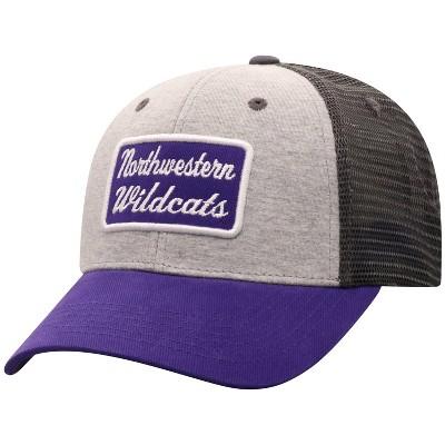 NCAA Northwestern Wildcats Men's Gray Cotton with Mesh Snapback Hat