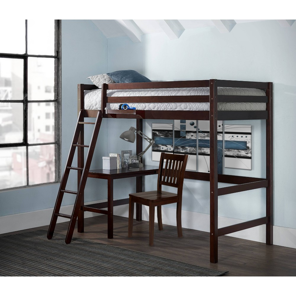 Kids  Caspian Study Loft with Chair and Hanging Nightstand Chocolate - Hillsdale Furniture Kids Twin Caspian Study Loft with Chair and Hanging Nightstand Chocolate - Hillsdale Furniture Gender: unisex.