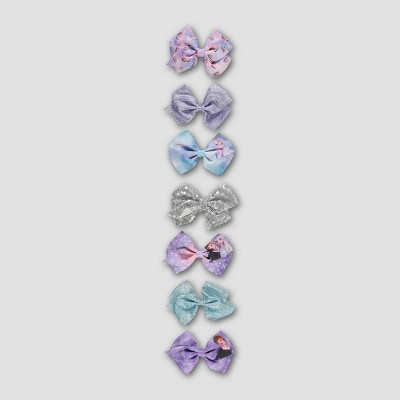 Girls' Frozen 7pk Bow Hair Clips