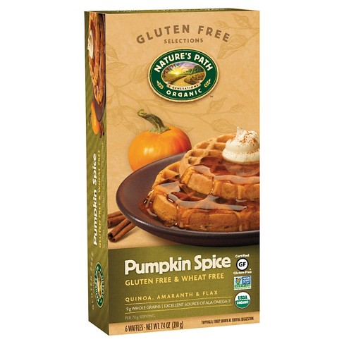 Nature's Path Organic, Gluten Free, & Wheat Free Pumpkin Spice Frozen Waffles - 6ct/7.4oz - image 1 of 1