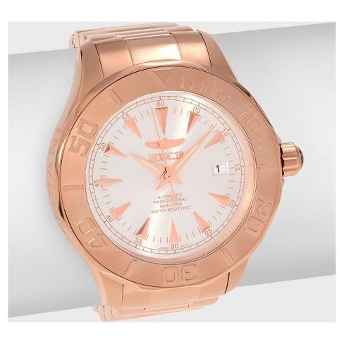 Men's Invicta Signature 7111 Stainless Steel Automatic Three Hand Link Bracelet Watch - Rose Gold - image 1 of 2