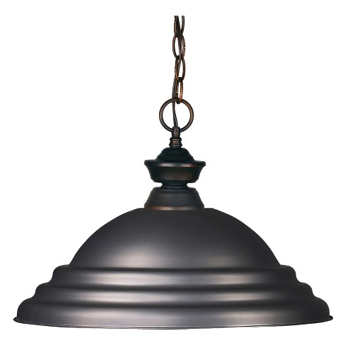 Pendant with Olde Bronze Glass Ceiling Lights - Z-Lite - image 1 of 1