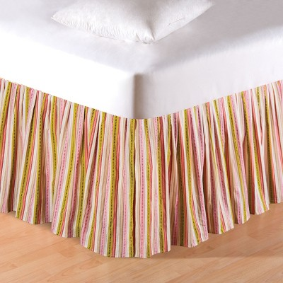 C&F Home Celine Stripes King Bed Skirt Drop Length: 18 inches