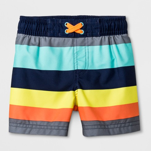 7875384f28 Baby Boys' Striped Swim Shorts - Cat & Jack™ Gray : Target