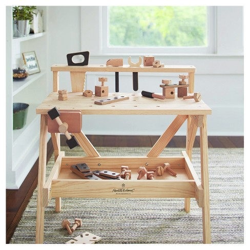 Wooden Toy Tool Bench 38pc Hearth Hand With Magnolia