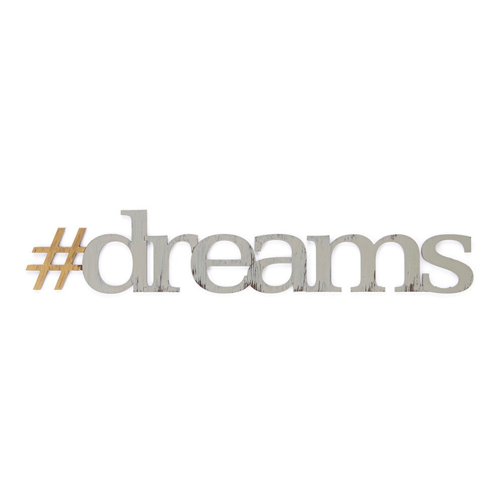 Image of Letter2Word Hand Painted #dreams 3D Wall Sculpture - Nickel, Brushed Nickel