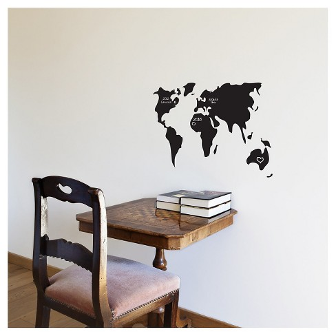 Surf and Turf Wall Decal - Black - image 1 of 1
