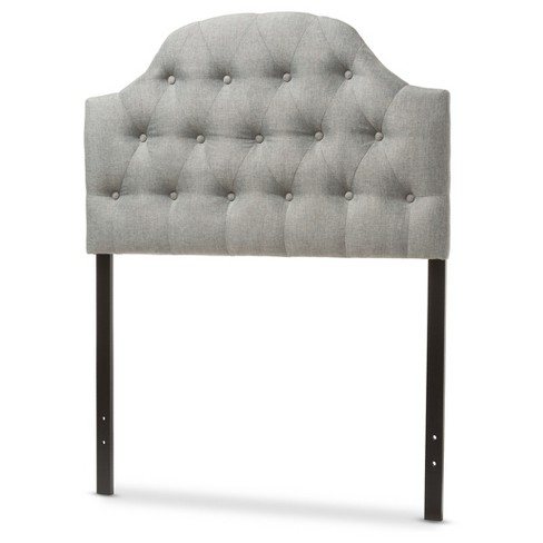 Morris Modern And Contemporary Faux Leather Upholstered Button - Tufted Scalloped Headboard - Baxton Studio - image 1 of 4