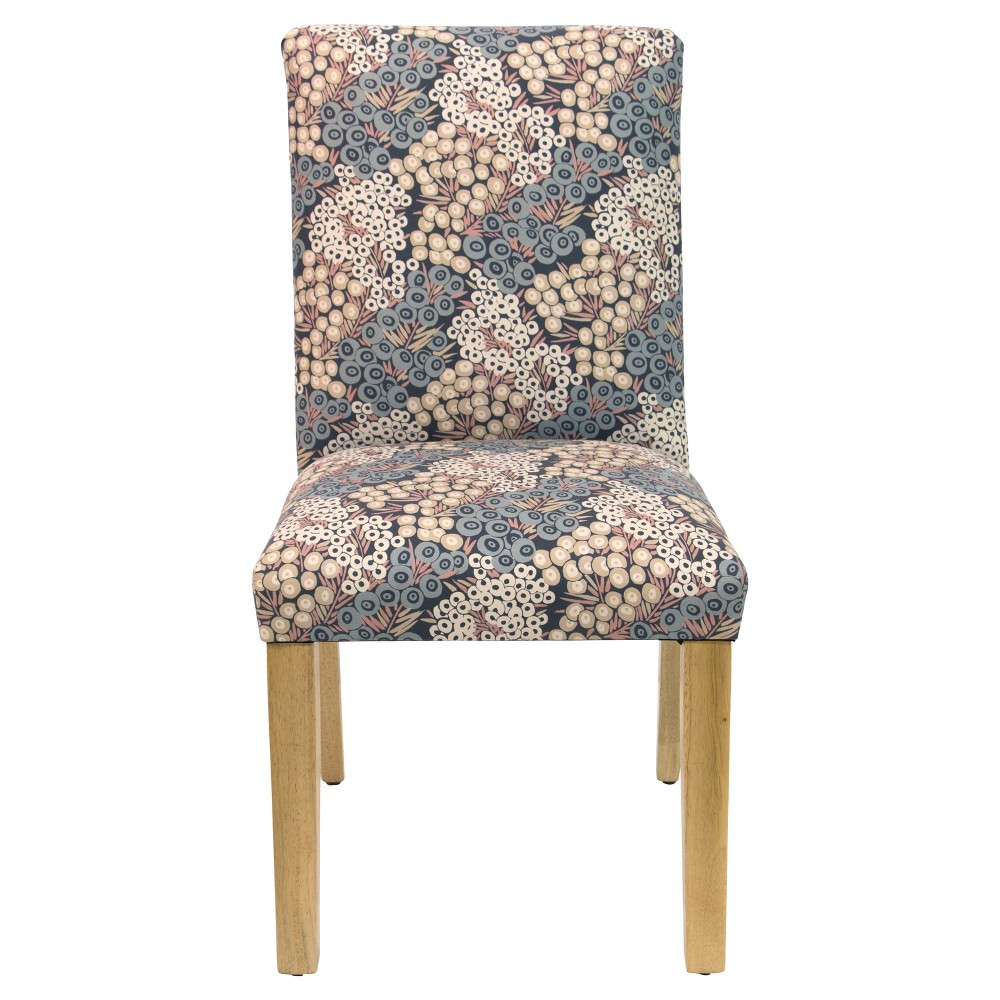 Hendrix Dining Chair Navy Blush Floral - Cloth & Co.