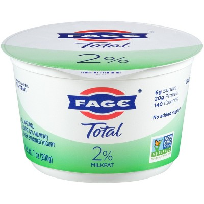 FAGE Total 2% Milkfat Plain Greek Yogurt - 7oz