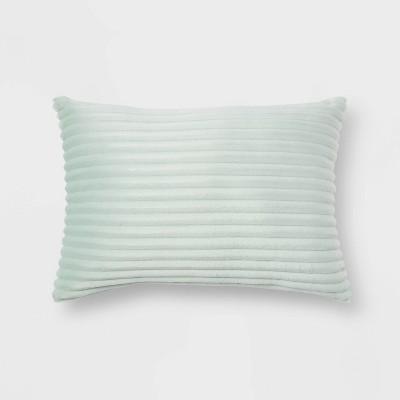 Oblong Cut Plush Throw Pillow Mint - Room Essentials™