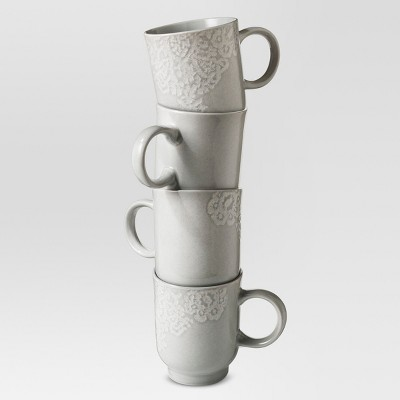 Tilla Mug 14oz Stoneware Set of 4 - Threshold™