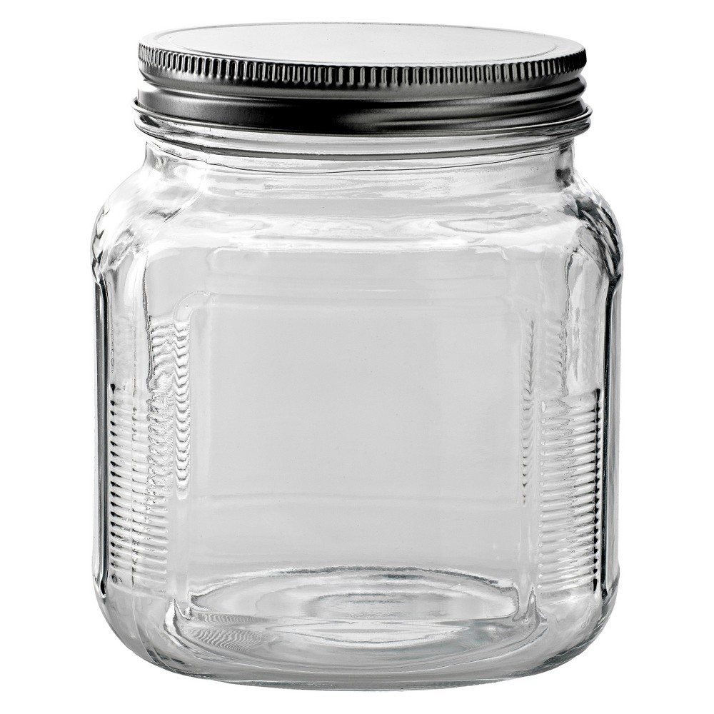 Image of Anchor Hocking Glass Cracker Jar with Metal Lid
