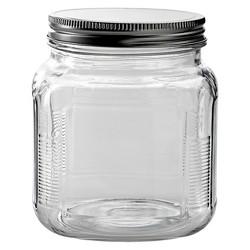 Anchor Hocking Gl Er Jar With Metal Lid